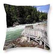Flathead River Rapids Throw Pillow