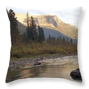 Flathead River Throw Pillow