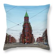 Flatiron Building 1955 Throw Pillow