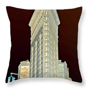 Flatiron Building Inverted Throw Pillow