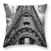 Flatiron Building  Nyc Black And White Throw Pillow