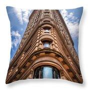 Flatiron Building Nyc Color Throw Pillow