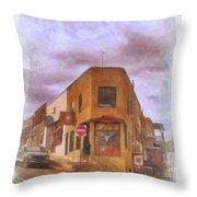 Flatiron Building Of Jerome Arizona Throw Pillow