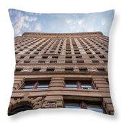 Flatiron Building Sky Color Throw Pillow