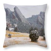 Flatiron Meadows - Boulder Colorado Throw Pillow