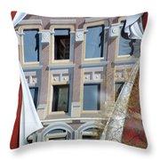 Flatiron Mural Throw Pillow