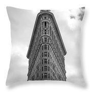 Flatiron Skies Throw Pillow