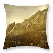 Flatiron Views  Boulder Colorado Throw Pillow