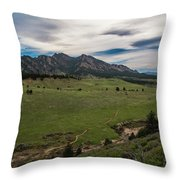 Flatirons From South Trails Throw Pillow