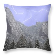 Flatirons Lightning Throw Pillow