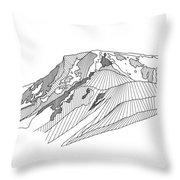 Flattop Mountain Throw Pillow