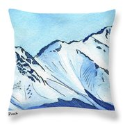 Flattop Through Ptarmigan Peak, Alaska Throw Pillow