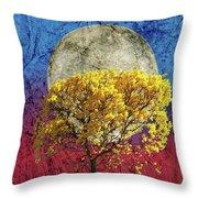Flavo Luna In Ligno Throw Pillow