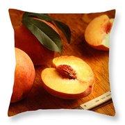 Flavorcrest Peaches Throw Pillow