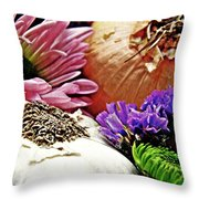 Flavored With Onion And Garlic Throw Pillow