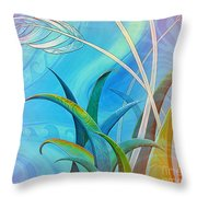 Flax Harakeke And Toetoe Throw Pillow