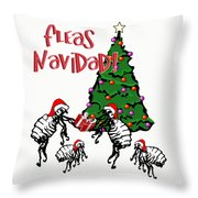 Fleas Navidad  Throw Pillow