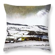 Fleeting Light Stainland Throw Pillow