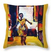 Fleeting Woman Throw Pillow