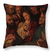 Flemish Artist 16 17th Century. Throw Pillow