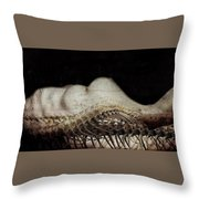 Flesh And Bone Suspended Throw Pillow