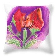 Fleur D'amour Throw Pillow