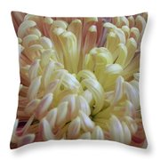 Curled Flower Throw Pillow