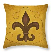 Fleur De Lis II Throw Pillow
