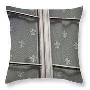 Fleur-de-lis Throw Pillow by Juergen Weiss