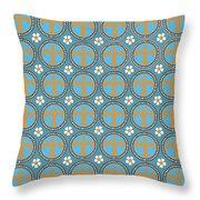 Fleur De Lis Pattern No. 2 Throw Pillow