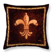 Fleur De Lys-king Charles Vii Throw Pillow