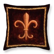 Fleur De Lys-king Louis Vii Throw Pillow