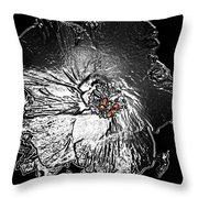 Fleur De Metallica Throw Pillow