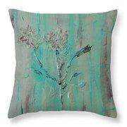 Fleur De Sage Throw Pillow