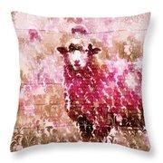 Fleur De Sheep Throw Pillow