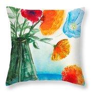 Fleur Primitiv Throw Pillow