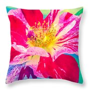 Fleurie Peppermint Rose High Key Throw Pillow