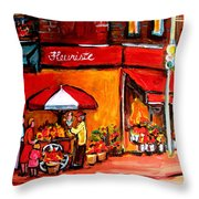 Fleuriste Bernard Florist Montreal Throw Pillow