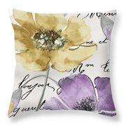 Fleurs De France II Throw Pillow
