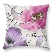 Fleurs De France IIi Throw Pillow