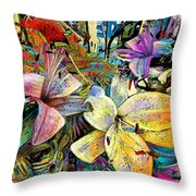 Fleurs De Lys 02 Throw Pillow