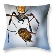 Flew In For Dinner Throw Pillow