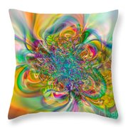 Flexibility 57abc Throw Pillow