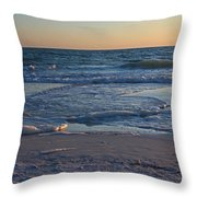 Flickering Lght Throw Pillow