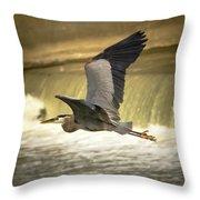 Flight Below The Falls Throw Pillow