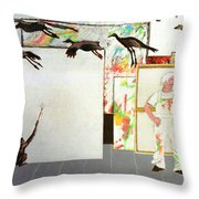 Flight From Reality Throw Pillow