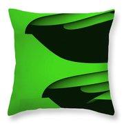 Flight - Green Version Throw Pillow