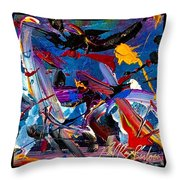 Flight Of A Huming Bird Throw Pillow