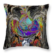 Flight Of Silver Eagles Throw Pillow
