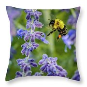 Flight Of The Bumble Bee Throw Pillow